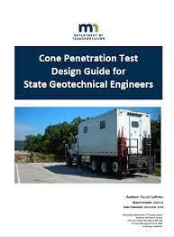 Guía de diseño geotécnico mediante ensayos de penetración estática y piezoconos (Minnesota)